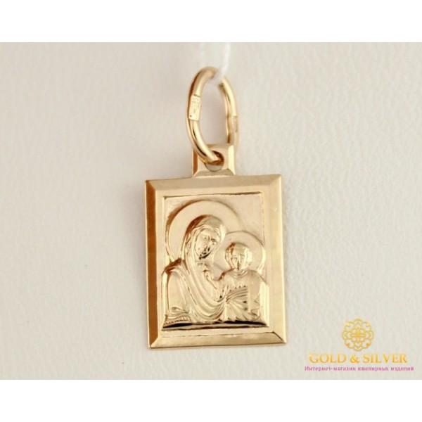 Золотая Нательная Икона 585 проба. Подвес с красного золота, Божья Матерь 100263 , Gold & Silver Gold & Silver, Украина