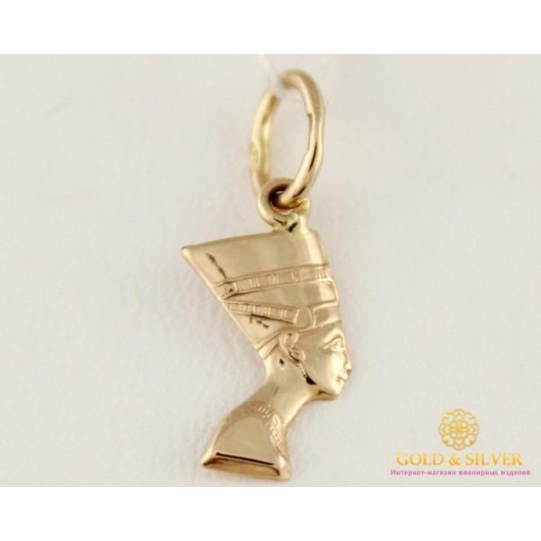 Золотой Кулон 585 проба. Подвес с красного золота, Нефертити 100057 , Gold & Silver Gold & Silver, Украина