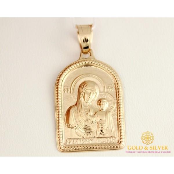Золотая Нательная Икона 585 проба. Подвес с красного золота, Божья Матерь 100531 , Gold & Silver Gold & Silver, Украина