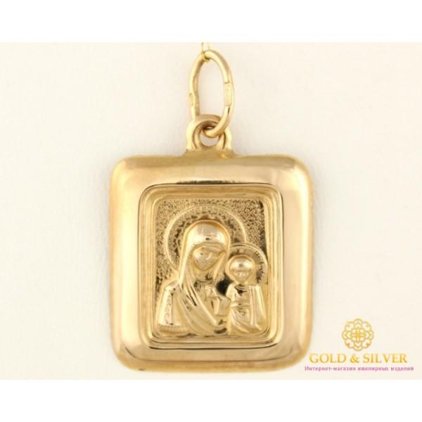 Золотая нательная Икона 585 проба. Подвес с красного золота, Божья Матерь Казанская 100435 , Gold & Silver Gold & Silver, Украина