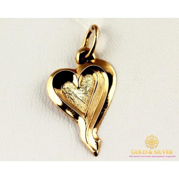 Золотой Кулон 585 проба. Подвес с красного золота, Сердечко 100452 , Gold & Silver Gold & Silver, Украина