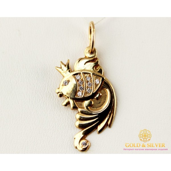 Золотой Кулон 585 проба. Подвес с красного золота, Золотая Рыбка 100527 , Gold &amp Silver Gold & Silver, Украина