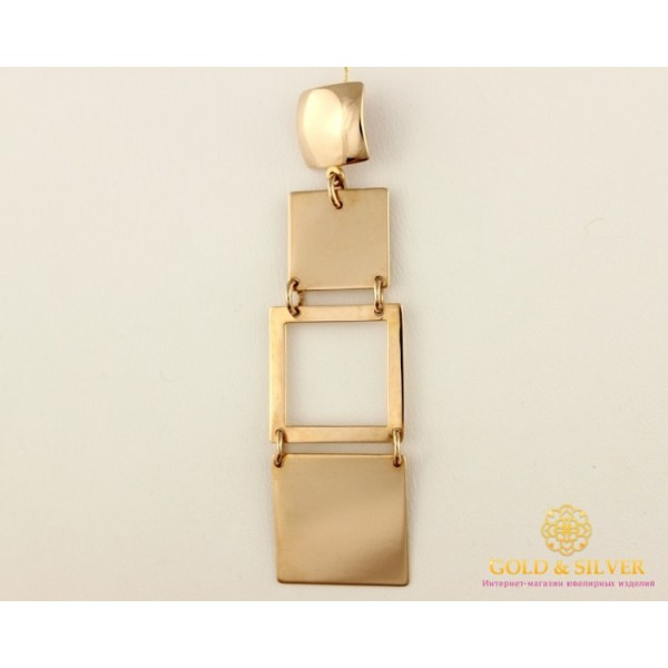 Золотой Кулон 585 проба. Женский Подвес с красного золота, Геометрия 130132 , Gold & Silver Gold & Silver, Украина