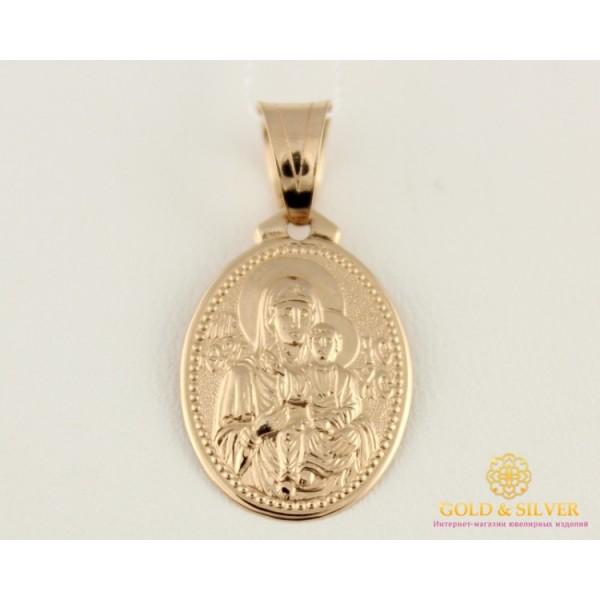 Золотая Нательная Икона 585 проба. Подвес с красного золота, Божья Матерь 100504 , Gold & Silver Gold & Silver, Украина