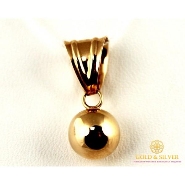 Золотой Кулон 585 проба. Подвес из красного золота, Шарик 170029 , Gold &amp Silver Gold & Silver, Украина