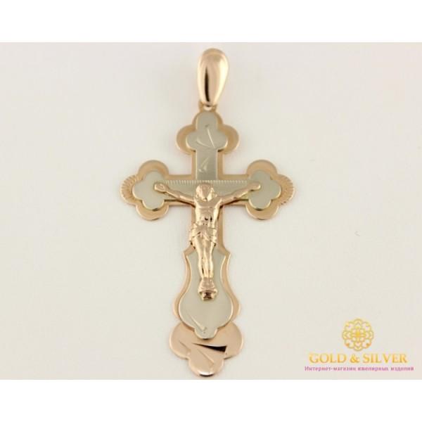 Золотой Крест 585 проба. Крест с красного и белого золота, 3,22 грамма  210008 , Gold &amp Silver Gold & Silver, Украина