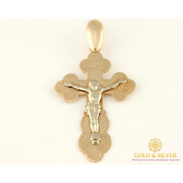 Золотой Крест 585 проба. Крест с красного и белого золота, Освящен 221007 , Gold & Silver Gold & Silver, Украина