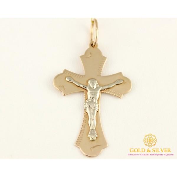 Золотой Крест 585 проба. Крест Белое и Красное Золото 230037 , Gold &amp Silver Gold & Silver, Украина