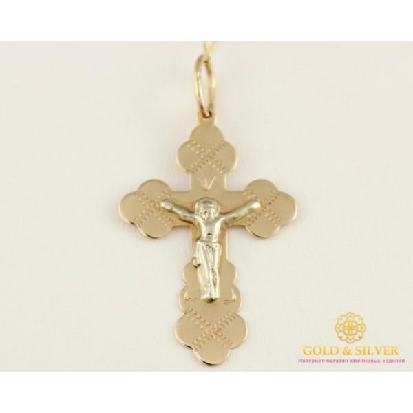 Золотой Крест 585 проба. Крест Белое и Красное золото 230054 , Gold & Silver Gold & Silver, Украина