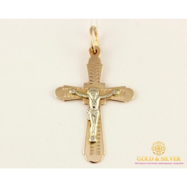 Золотой Крест 585 проба. Крест Белое и Красное Золото 230065 , Gold & Silver Gold & Silver, Украина