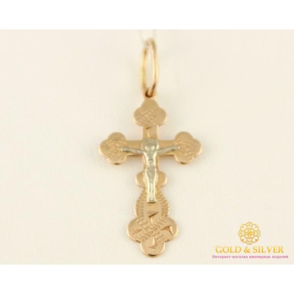 Золотой Крест 585 проба. Крест Белое и Красное Золото 234040 , Gold &amp Silver Gold & Silver, Украина