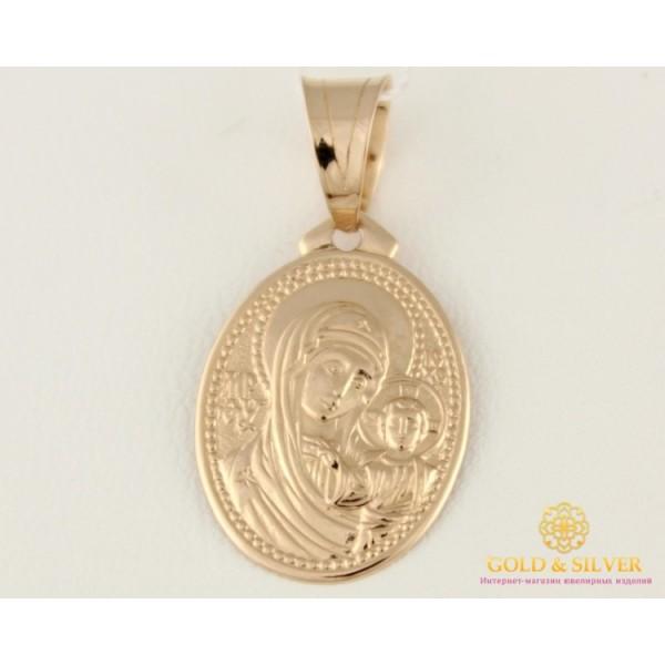 Золотая нательная Икона 585 проба. Подвес с красного золота, Божья Матерь 100500 , Gold & Silver Gold & Silver, Украина