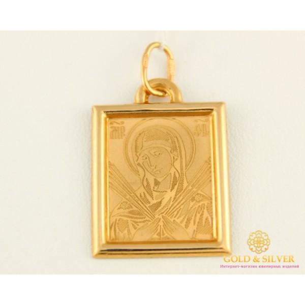 Золотая Нательная Икона 585 проба. Подвес с красного золота, Божья Матерь Семистрельная 401211 , Gold & Silver Gold & Silver, Украина