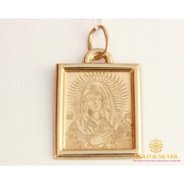 Золотая Нательная Икона 585 проба. Подвес с красного золота, Божья Матерь 401220 , Gold &amp Silver Gold & Silver, Украина