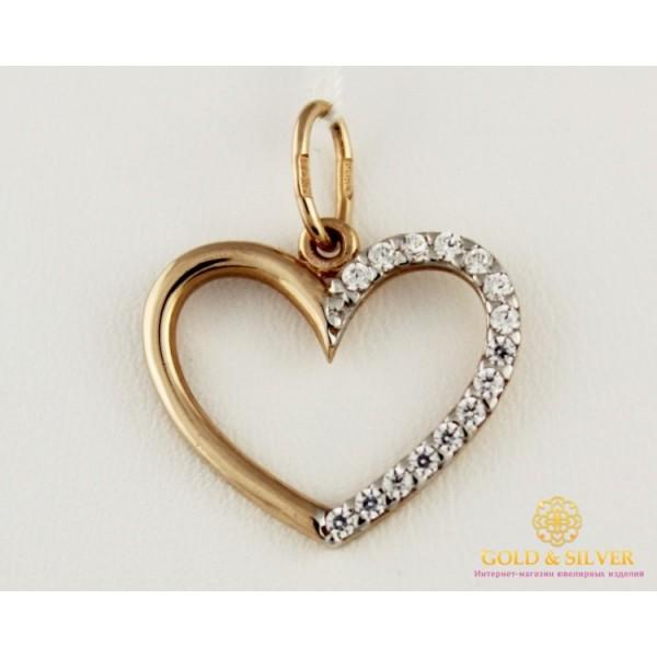 Золотой Подвес Сердечко 420895 , Gold &amp Silver Gold & Silver, Украина