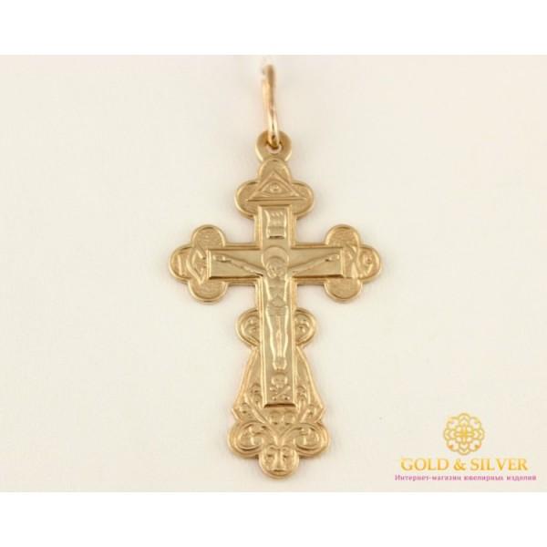 Золотой Крест 585 проба. Крест с красного золота. 8047960 , Gold &amp Silver Gold & Silver, Украина