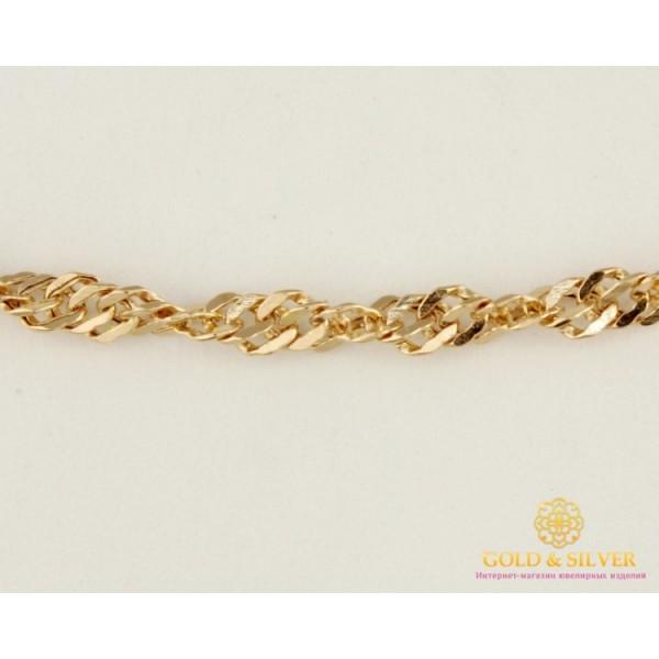 Золотая Цепь 585 проба. Цепь с красного золота, плетение Сингапур, 55 сантиметров 4,63 грамма 50127202051п(55) , Gold & Silver Gold & Silver, Украина