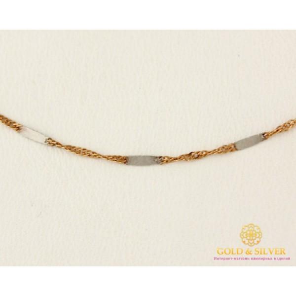 Золотая Цепь 585 проба. Женская цепочка с красного и белого золота, Комбинированная, 40 сантиметров 305101p , Gold & Silver Gold & Silver, Украина