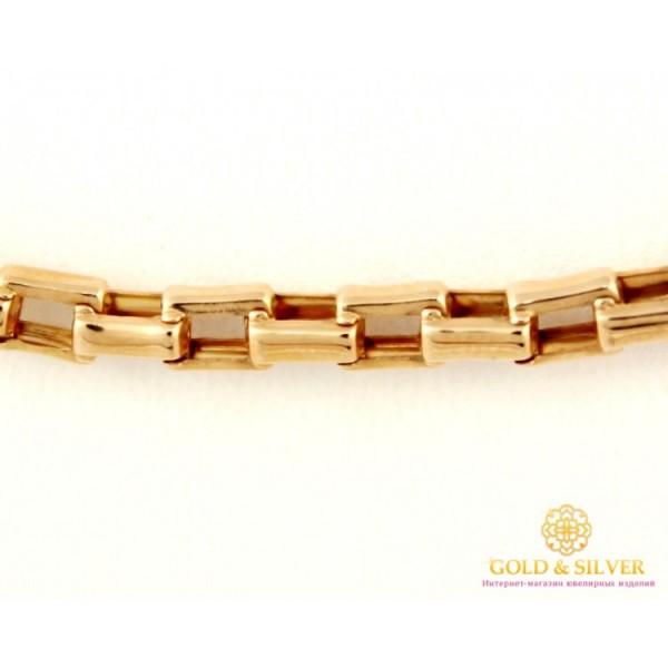 Золотая Цепь 585 проба. Цепочка с красного золота, плетение Якорь прямоугольный, 60 сантиметров, 12,95 грамма 801083 , Gold & Silver Gold & Silver, Украина