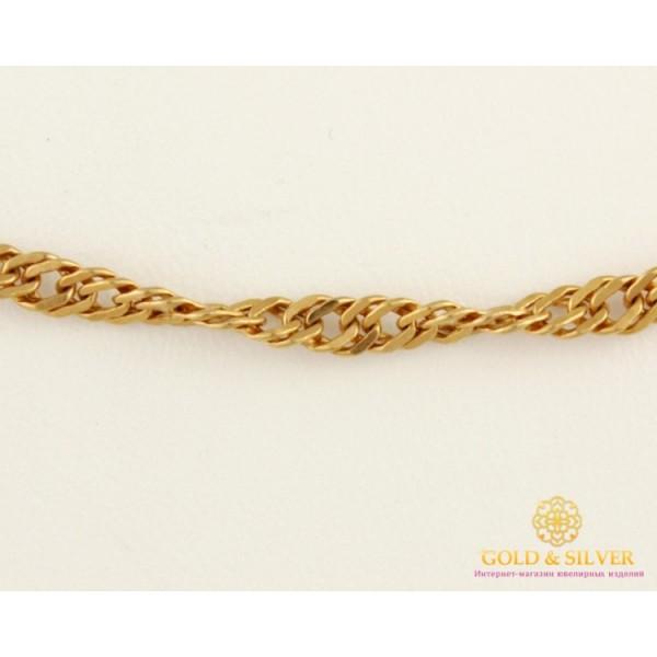 Золотая Цепь 585 проба. Цепочка с красного золота, плетение Сингапур 55 сантиметров 8,39 грамма 838612 , Gold & Silver Gold & Silver, Украина