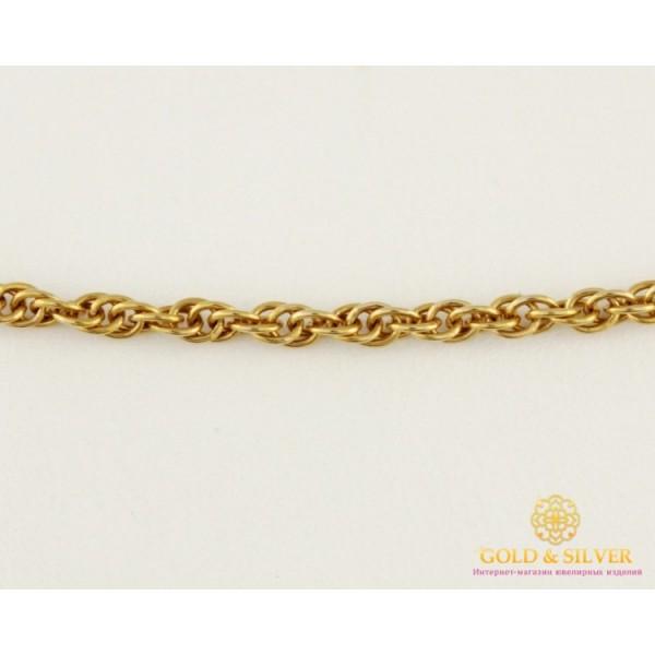 Золотая Цепь 585 проба. Цепь с красного золото, плетение Корда, 55 сантиметров. 8381110 , Gold & Silver Gold & Silver, Украина