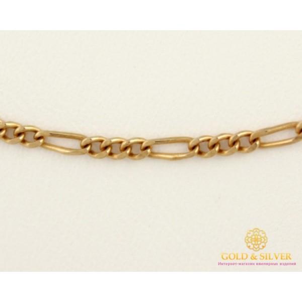 Золотая Цепь 585 проба. Цепочка с красного золота, плетение Фигаро, 55 сантиметров 70303600 , Gold & Silver Gold & Silver, Украина
