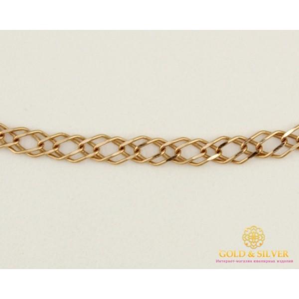 Золотая Цепь 585 проба. Цепочка с красного золота, плетение Ромб Двойной 50 сантиметров 513323041 , Gold & Silver Gold & Silver, Украина