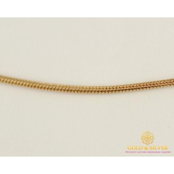 Золотая Цепь 585 проба. Цепочка с красного золота, плетение Снейк (жгут), 50 сантиметров, 6,4 грамма 5013110403 , Gold & Silver Gold & Silver, Украина