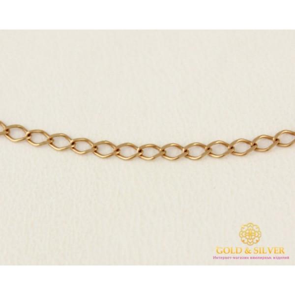Золотая Цепь 585 проба. Цепочка с красного золота, Ромб округлый, 40 сантиметров. 50106103041 , Gold & Silver Gold & Silver, Украина