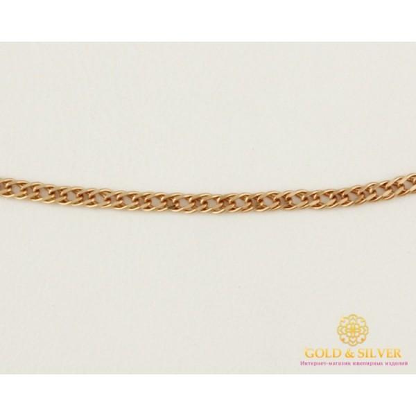 Золотая Цепь 585 проба. Женская цепочка с красного золота Ромб Двойная 50 сантиметров 50106202541(50) , Gold & Silver Gold & Silver, Украина