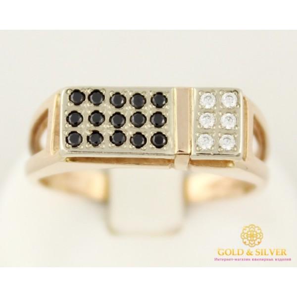 Золотой перстень 585 проба. Мужское кольцо красное и белое золото. 5120122 , Gold & Silver Gold & Silver, Украина