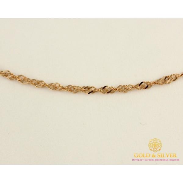 Золотая Цепь 585 проба. Цепочка с красного золота, плетение Сингапур 1,91 грамма, 45 сантиметров 50127202551(45) , Gold &amp Silver Gold & Silver, Украина