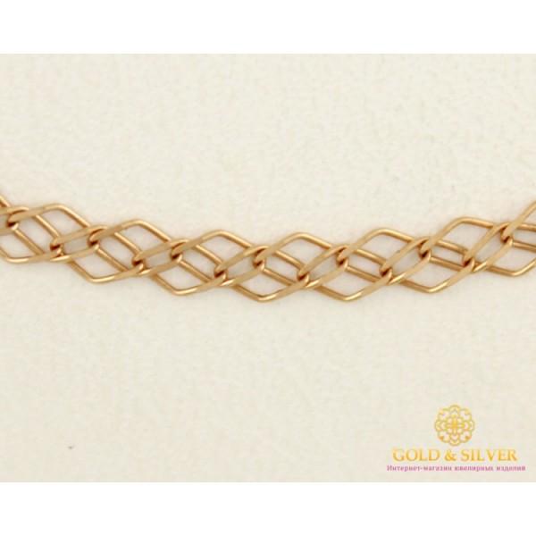 Золотая Цепь 585 проба. Цепочка с красного золота,  плетение Ромб Тройной, 50 сантиметров. 2,23 грамма. 50133203041 , Gold &amp Silver Gold & Silver, Украина