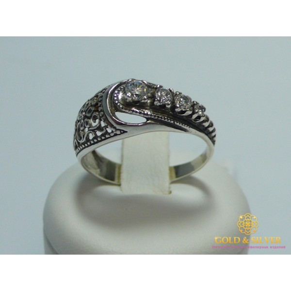 Серебряное кольцо 925 проба. Женское серебряное кольцо Гребешок 1023. , Gold & Silver Gold & Silver, Украина