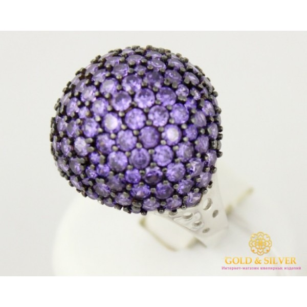 Серебряное кольцо 925 проба. Женское Кольцо Самоцветы с вставкой фиолетовых камней. 14979p , Gold & Silver Gold & Silver, Украина