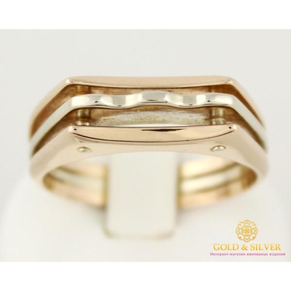 Золотой перстень 585 проба. Мужское кольцо красное и белое золото. 8020710 , Gold &amp Silver Gold & Silver, Украина