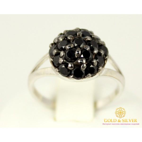 Серебряное кольцо 925 проба. Женское серебярное Кольцо Канва 15579p , Gold &amp Silver Gold & Silver, Украина