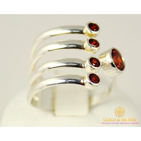 Серебряное кольцо 925 проба. Женское серебряное кольцо с красным камнем. 320728c , Gold & Silver Gold & Silver, Украина