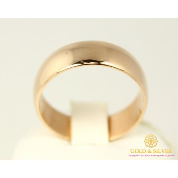Золотое кольцо 585 проба. Обручальное Кольцо классическое с красного золота. Ширина 7 мм. 8021070 , Gold &amp Silver Gold & Silver, Украина