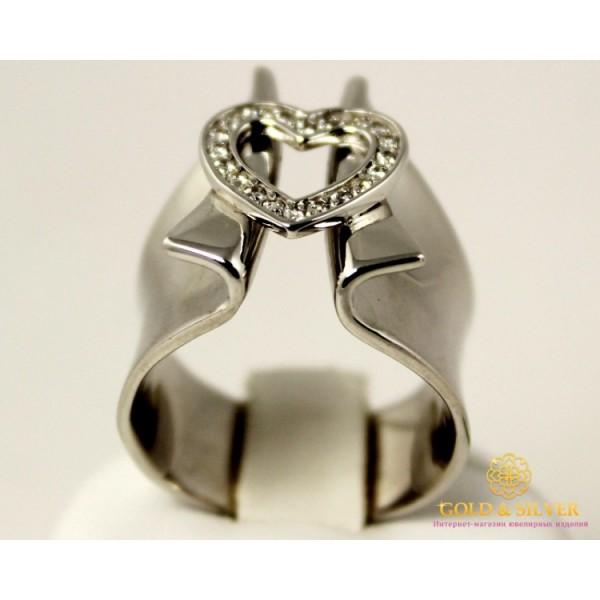 Серебряное Кольцо Сердце 330766c , Gold & Silver Gold & Silver, Украина