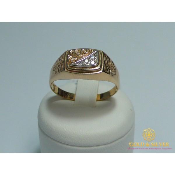 Золотое кольцо 585 проба. Мужское Кольцо с красного золота, k322 , Gold &amp Silver Gold & Silver, Украина