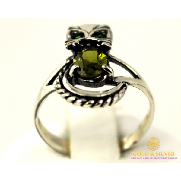 Серебряное кольцо 925 проба. Женское серебряное Кольцо кошка. k095 , Gold & Silver Gold & Silver, Украина