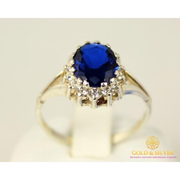 Серебряное кольцо 925 проба. Женское серебряное Кольцо с вставкой синего камня. k218 , Gold &amp Silver Gold & Silver, Украина