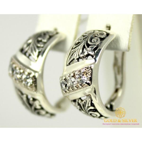 Серебряные Серьги 925 проба. Женские серебряные серьги Трехкаменка 2031 , Gold &amp Silver Gold & Silver, Украина