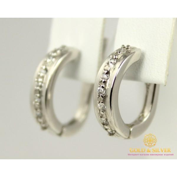 Серебряные Серьги 925 проба. Женские серьги Симпозиум 2880p , Gold &amp Silver Gold & Silver, Украина