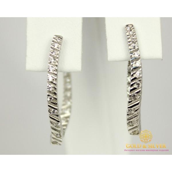 Серебряные Серьги 925 проба. Женские серебряные серьги Рябь 2941p , Gold & Silver Gold & Silver, Украина