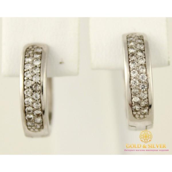 Серебряные Серьги 925 проба. Женские серебряные серьги Несси родированные 20399p , Gold & Silver Gold & Silver, Украина