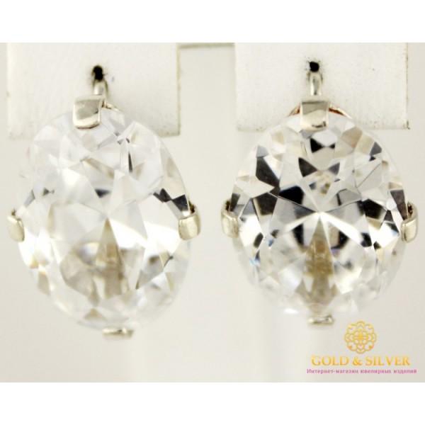 Серебряные Серьги 925 проба. Женские серебряные серьги Овал 022744 , Gold &amp Silver Gold & Silver, Украина