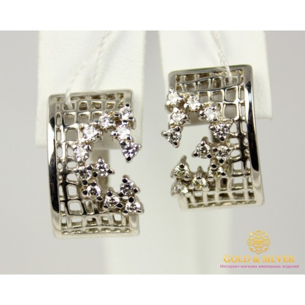 Серебряные Серьги 925 проба. Женские серебряные серьги Фианит 420690с , Gold &amp Silver Gold & Silver, Украина