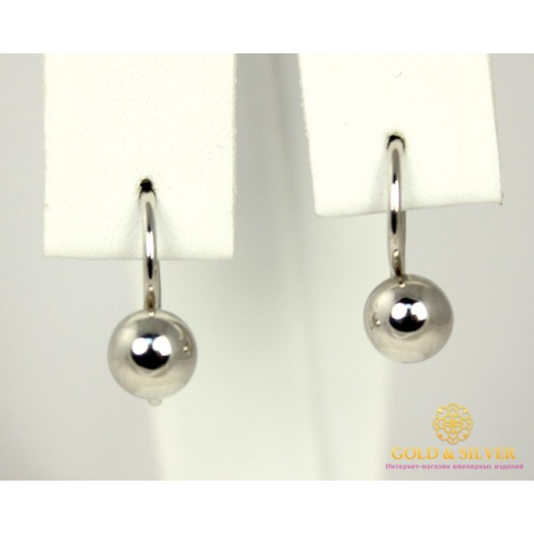 Серебряные Серьги 925 проба. Женские серебряные серьги Шарики, без вставок 470101с , Gold & Silver Gold & Silver, Украина